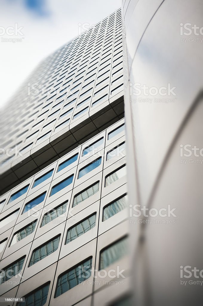 Office building facade - Silberturm in Frankfurt am Main royalty-free stock photo