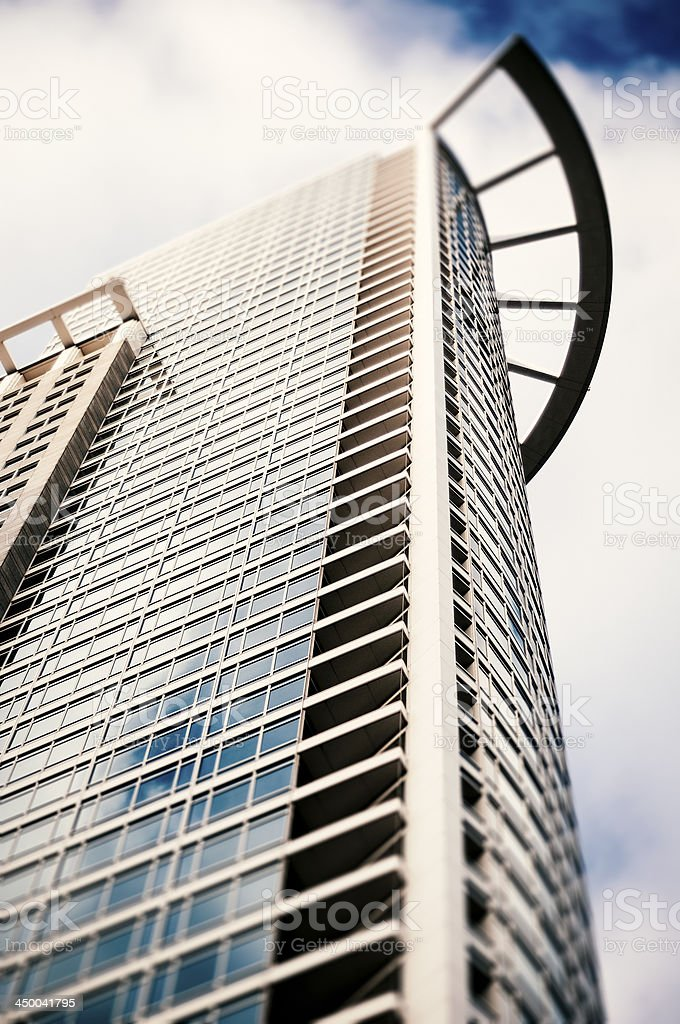 Office building facade - Westend Tower in Frankfurt royalty-free stock photo