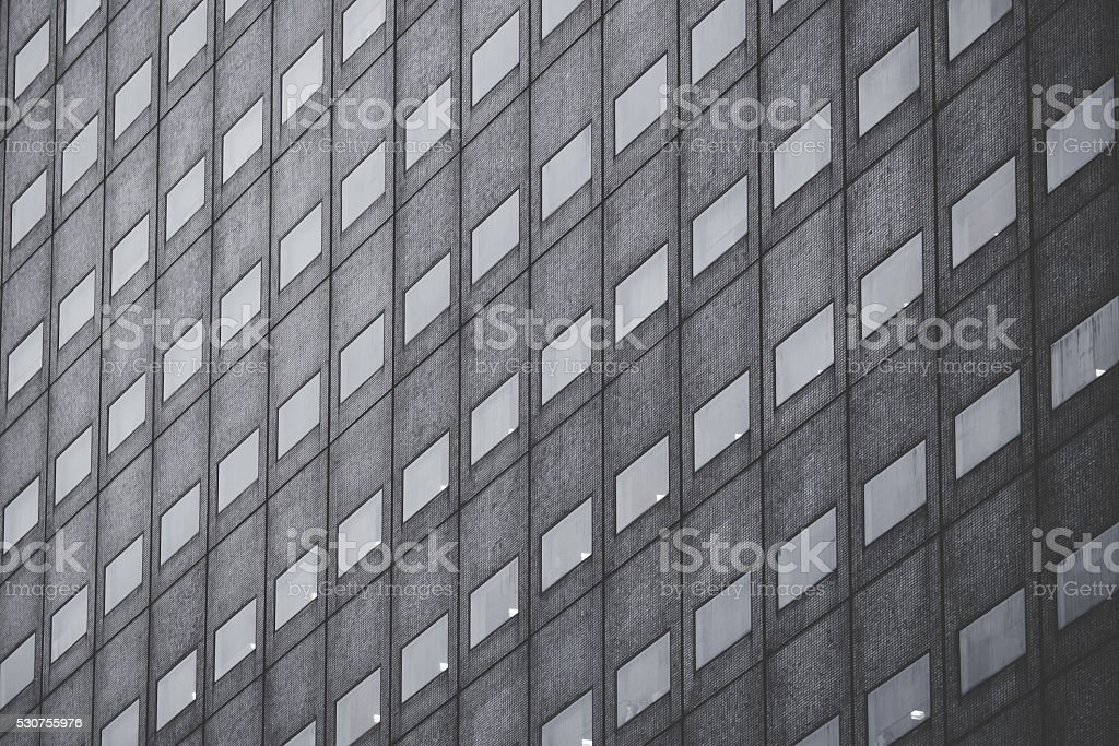Office building, image on black an white stock photo