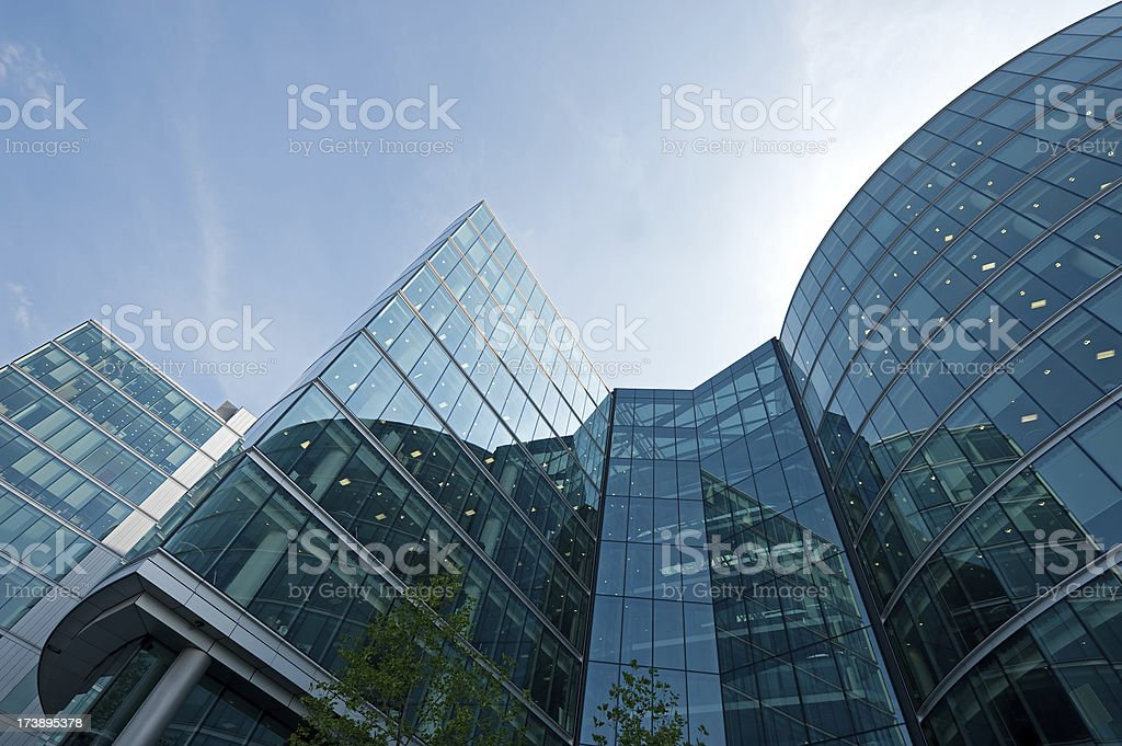 Office building in a London financial district royalty-free stock photo