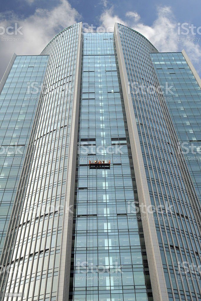 Office building in Beijing under construction royalty-free stock photo