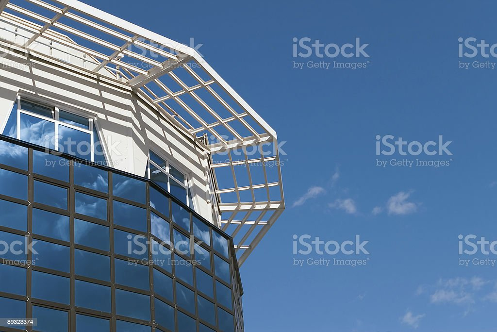 Office building in  build Hi-tech,south side royalty-free stock photo