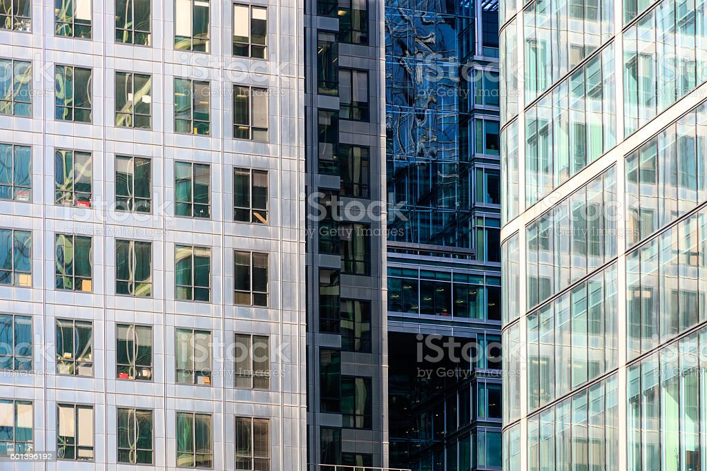 Office Building in Canary Wharf stock photo