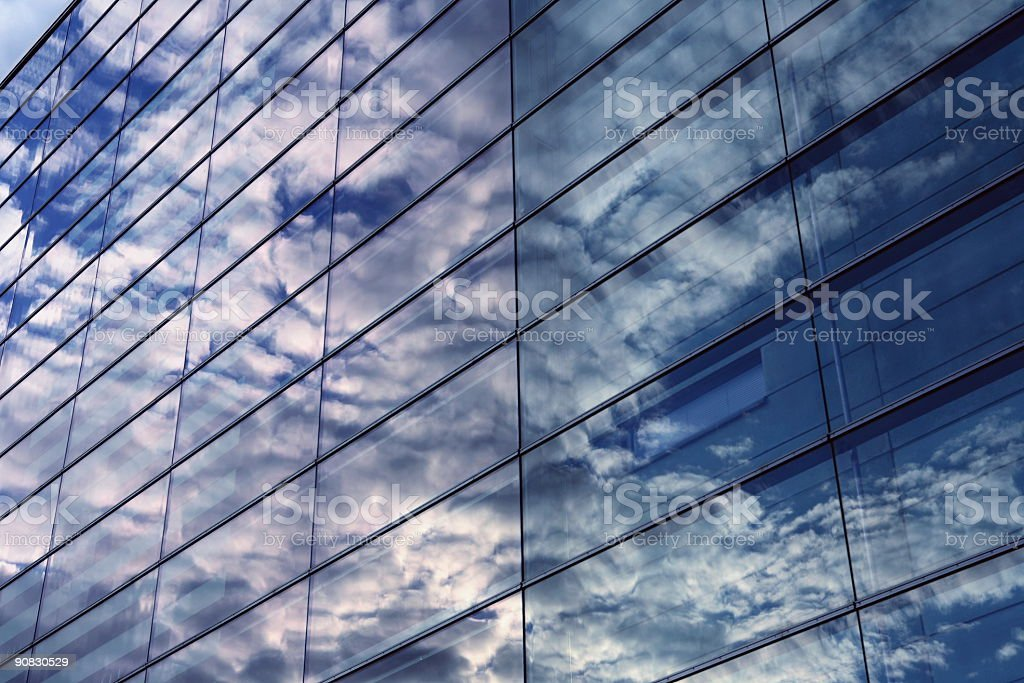 Office Building in Dawn royalty-free stock photo