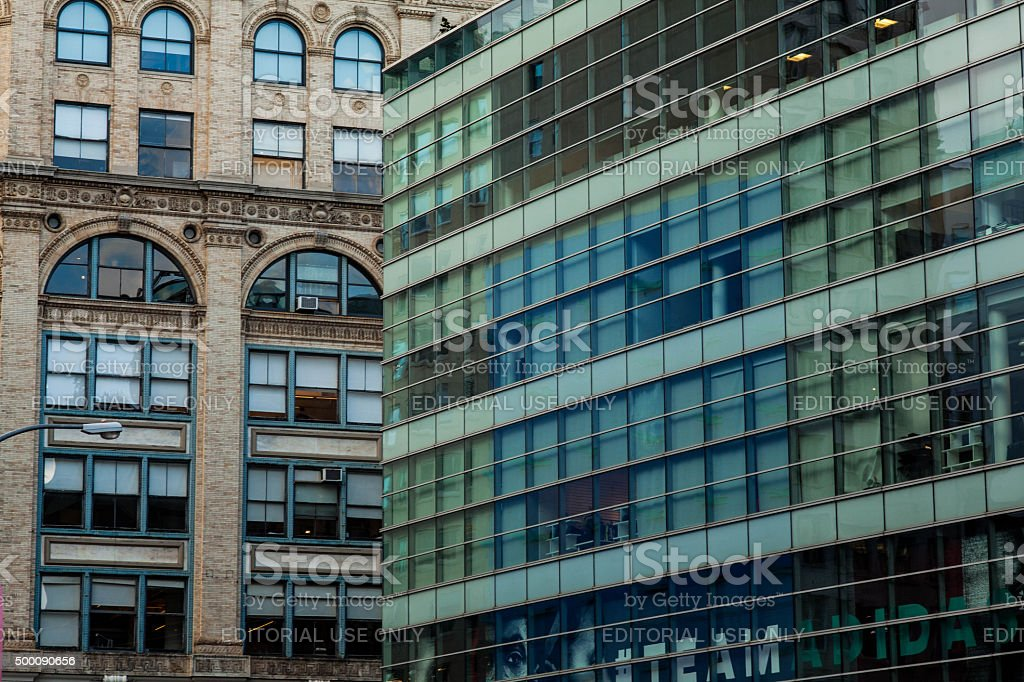 Office building in East Houston and Lafayette. Team Adidas. stock photo