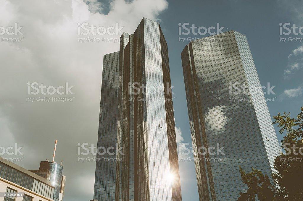 Office building in Frankfurt am Main - Deutsche Bank stock photo