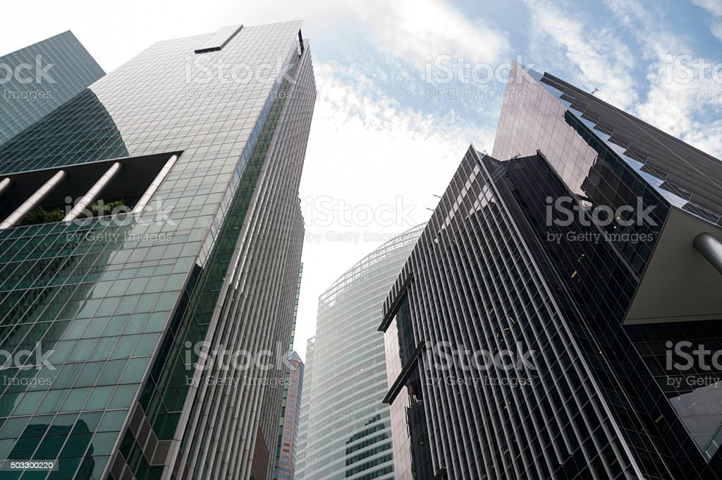 Office Building In Singapore stock photo