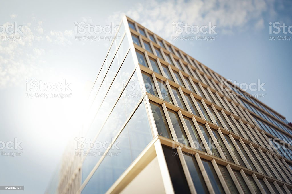 Office building in the sun royalty-free stock photo