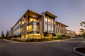 Office Building, Night, Silicon Valley, California