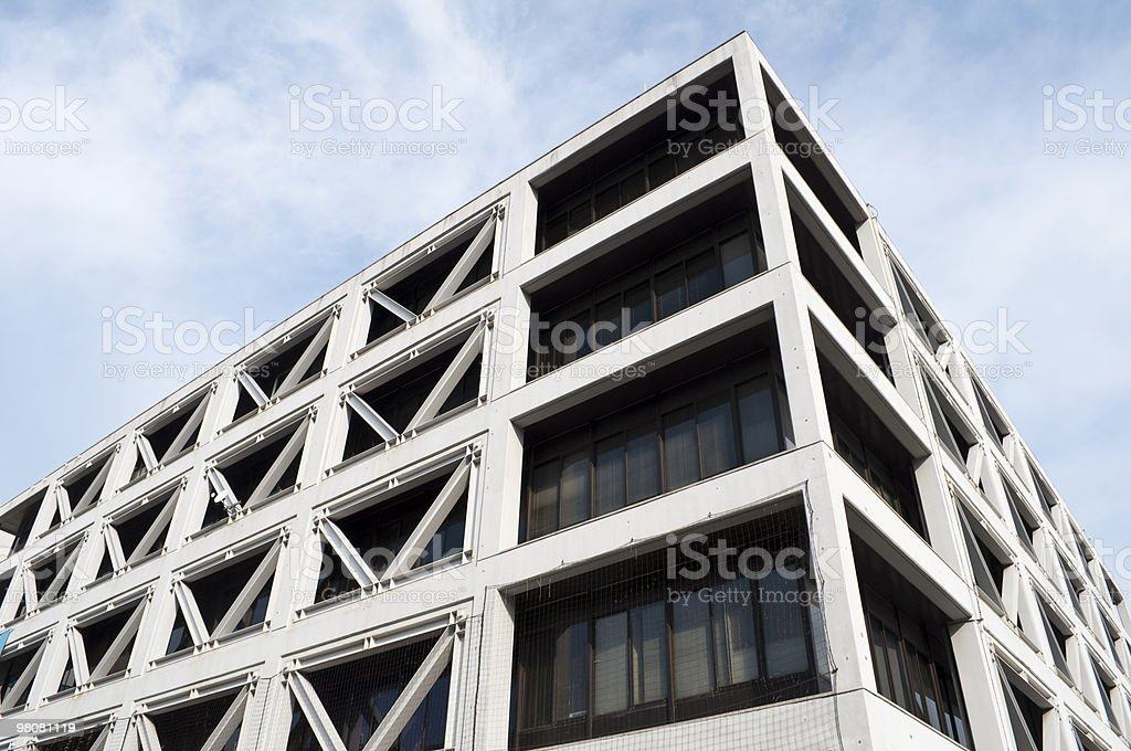 Office building of earthquake-proof construction royalty-free stock photo