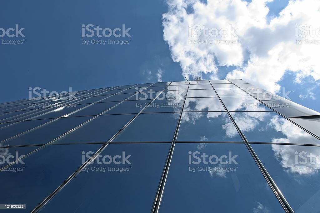 Office building on a blue sky royalty-free stock photo