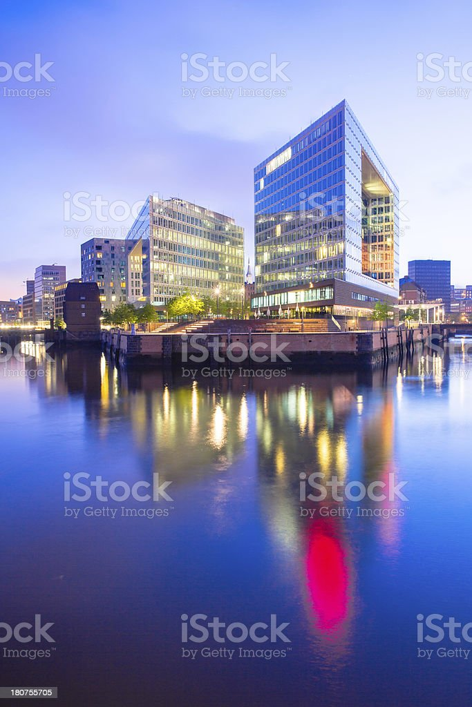 Office building on the island stock photo
