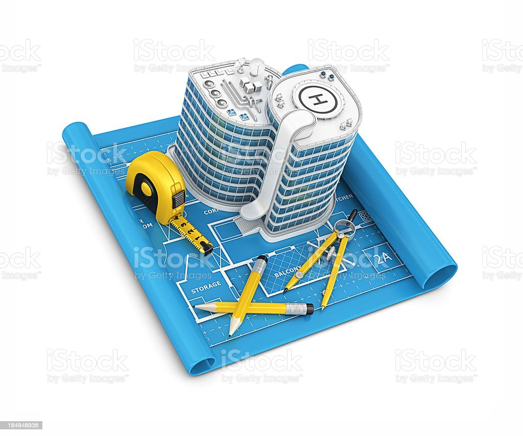office building project royalty-free stock photo