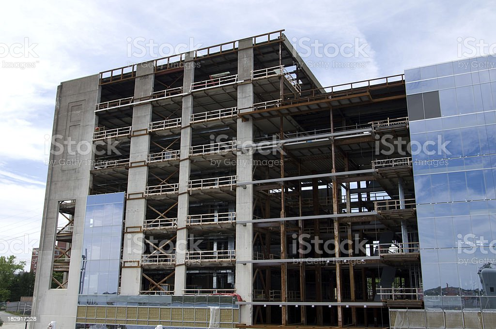 Office Building Restoration royalty-free stock photo
