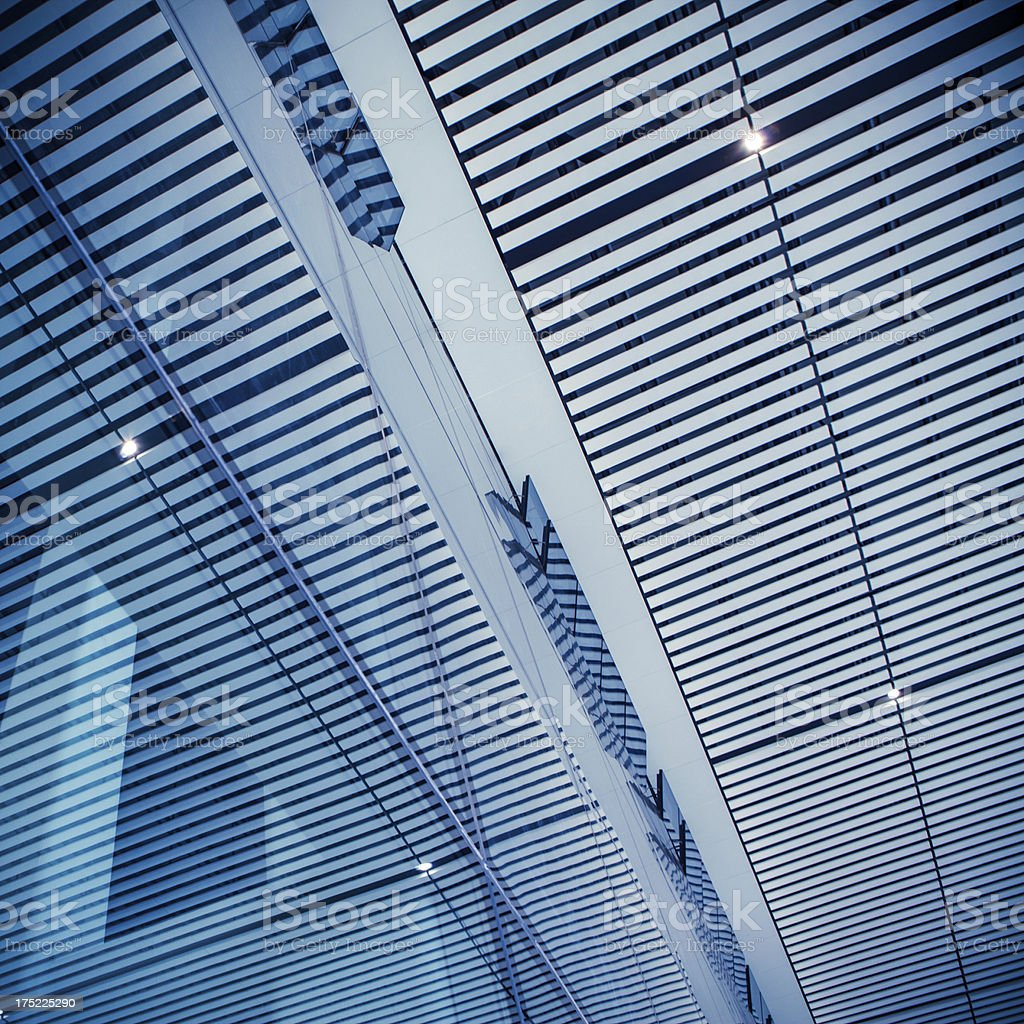 Office building roof royalty-free stock photo