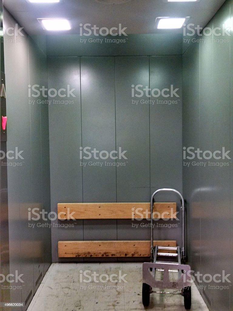 Office Building Service elevator stock photo