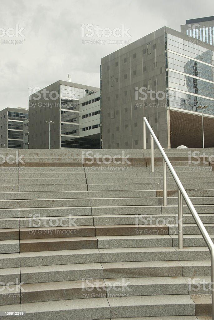 office building whit staicase stock photo