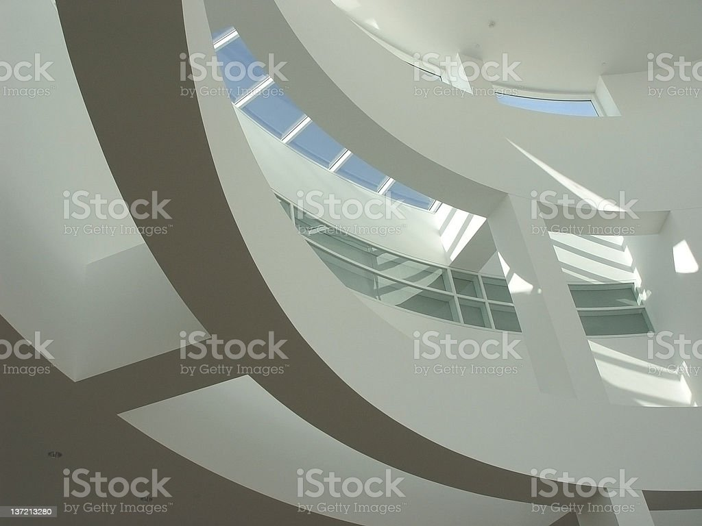 Office building white interior. royalty-free stock photo