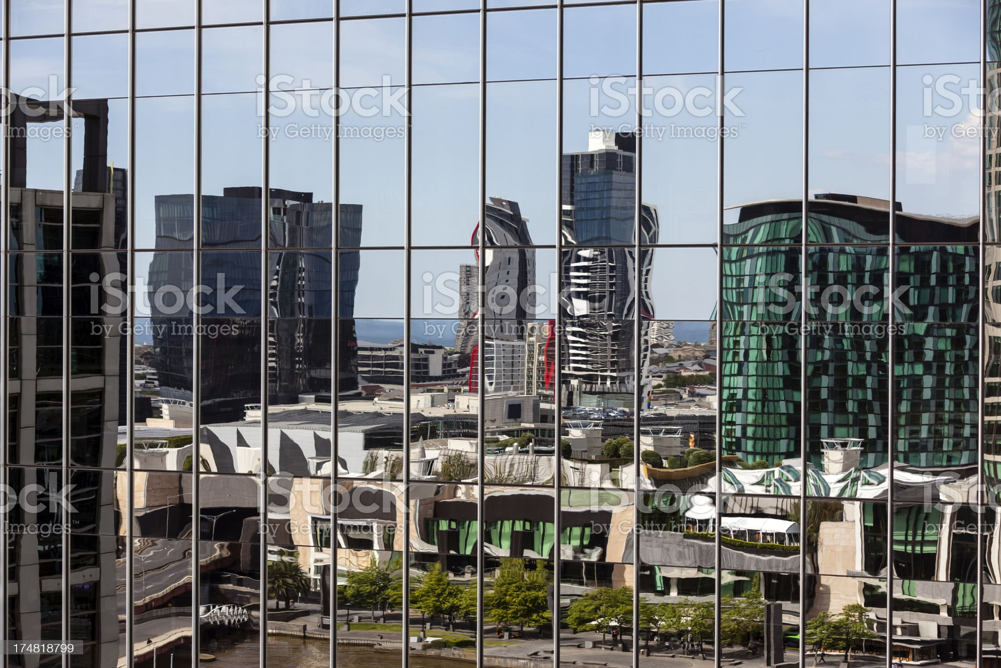 Office building window reflection royalty-free stock photo
