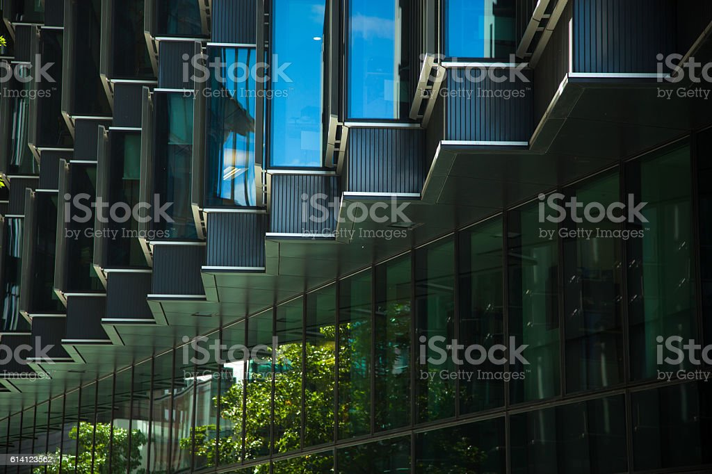 Office Building Window Zig-Zag stock photo
