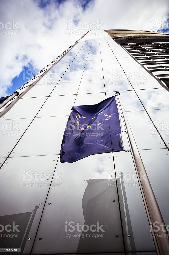 Office building with the flag of the European Community royalty-free stock photo