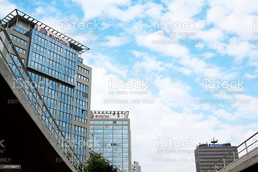 Office buildings and highway A40 stock photo