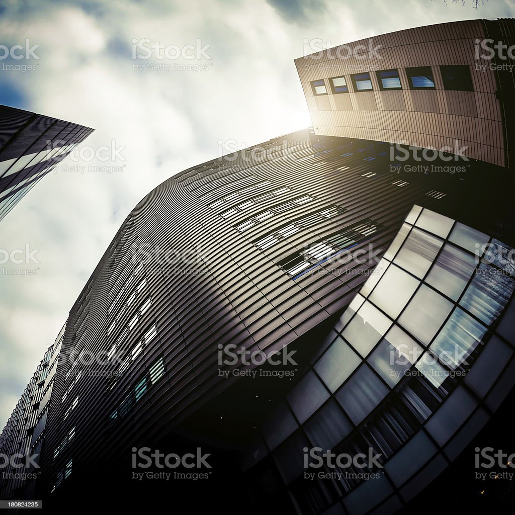 Office Buildings and Sun royalty-free stock photo