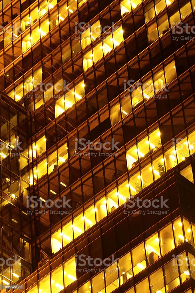 Office Buildings at Night royalty-free stock photo