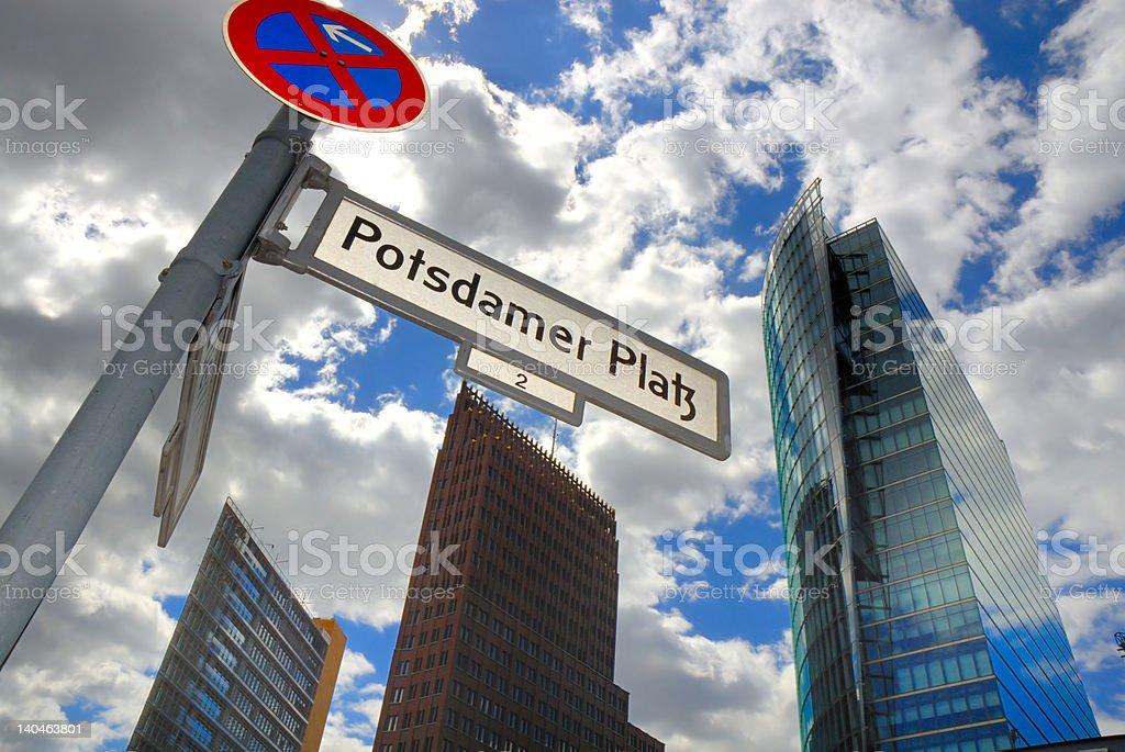 Office buildings at the Potsdamer Platz Berlin royalty-free stock photo