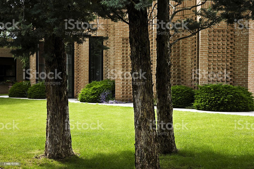 Office Buildings in a park royalty-free stock photo