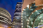 Office Buildings in Canary Wharf, London, England