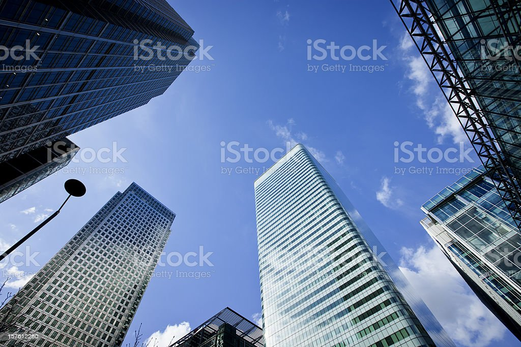 Office buildings in Canary Wharf, London royalty-free stock photo