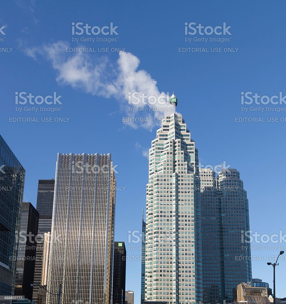 Office buildings in downtown Toronto stock photo