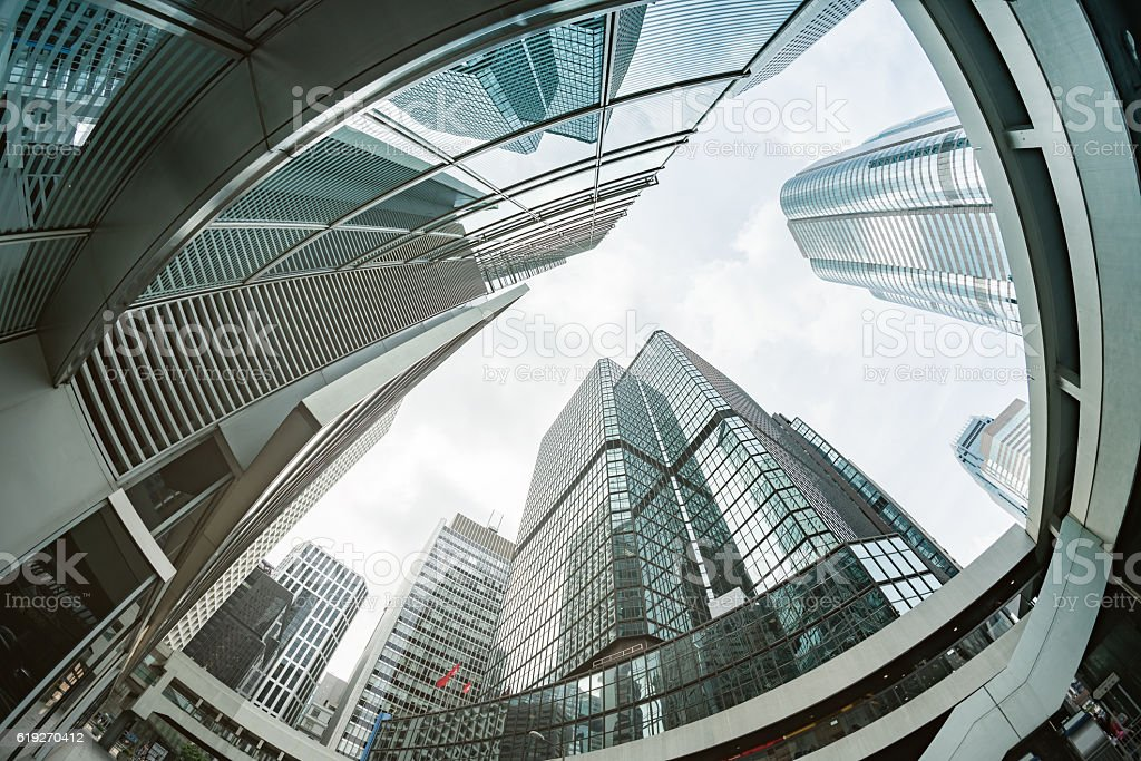 Office Buildings in Hong Kong stock photo