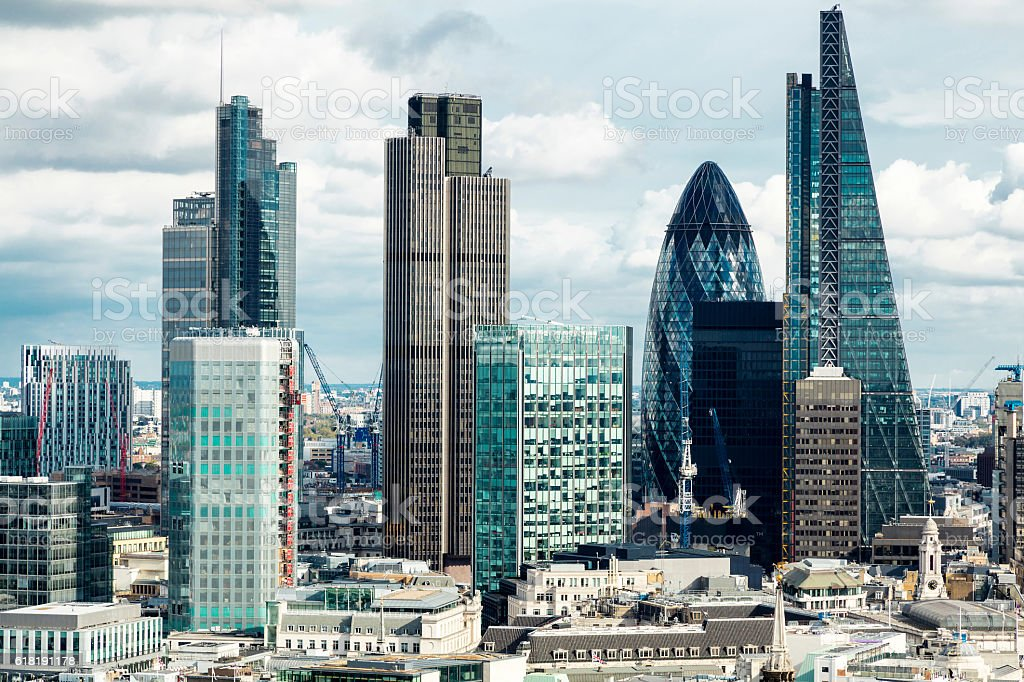 Office Buildings in London, England stock photo