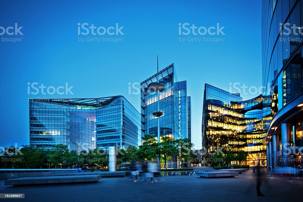 office buildings in London royalty-free stock photo