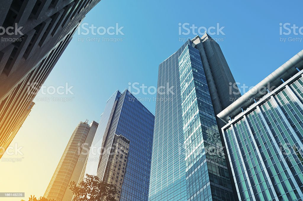 Office Buildings in Makati, Manila - Philippines stock photo