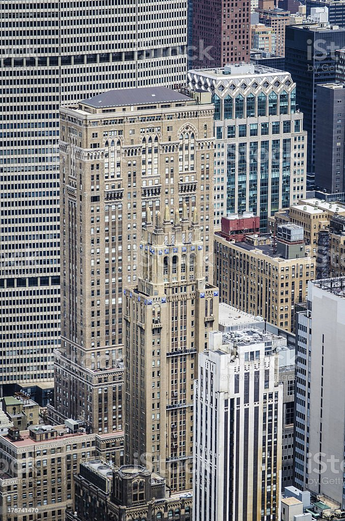 Office buildings in New York City royalty-free stock photo