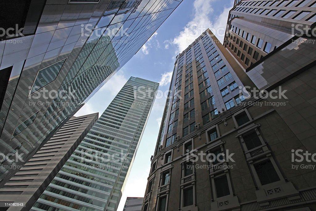 edificios de oficinas en singapur foto de stock libre de derechos