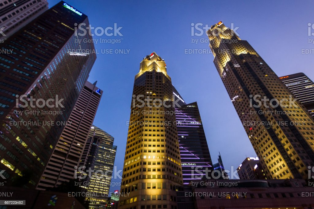 Office buildings in Singapore stock photo