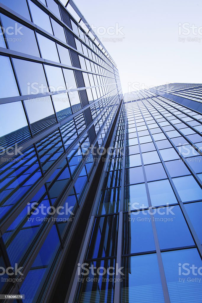 office buildings.  modern glass silhouettes of skyscrapers royalty-free stock photo
