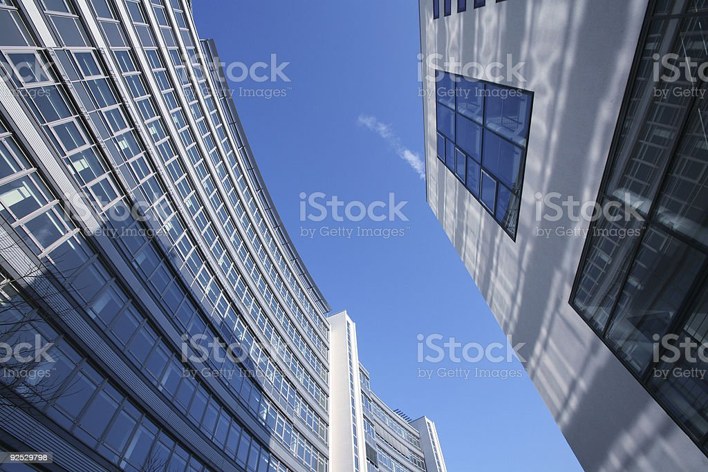 Office buildings play stock photo