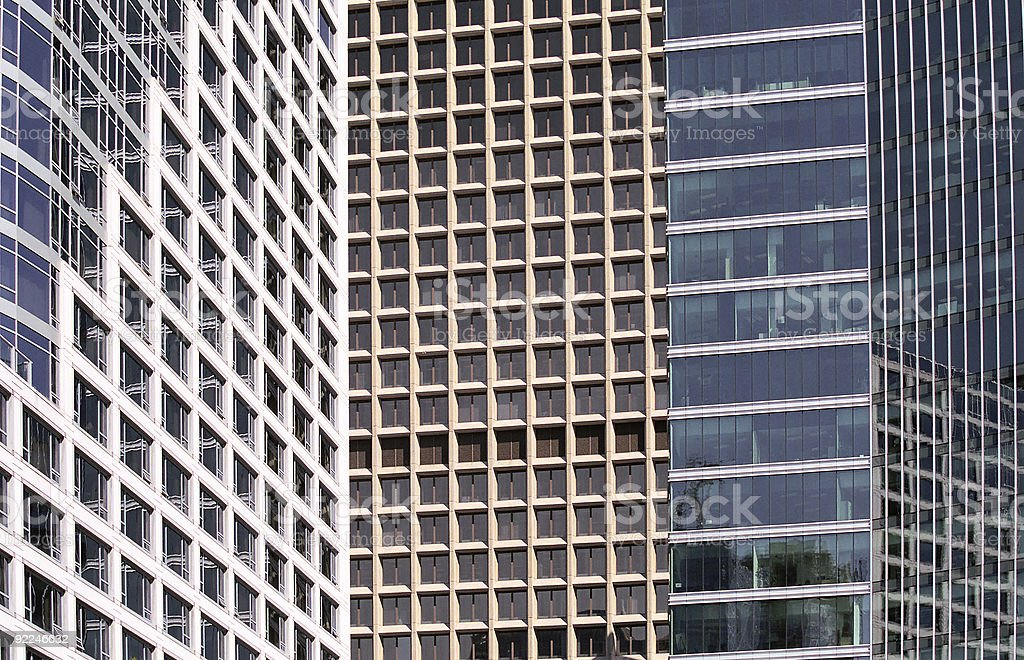 Office buildings Vancouver Canada royalty-free stock photo