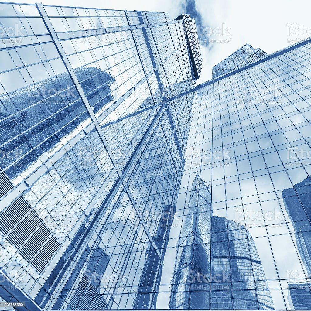 Office buildings walls. stock photo