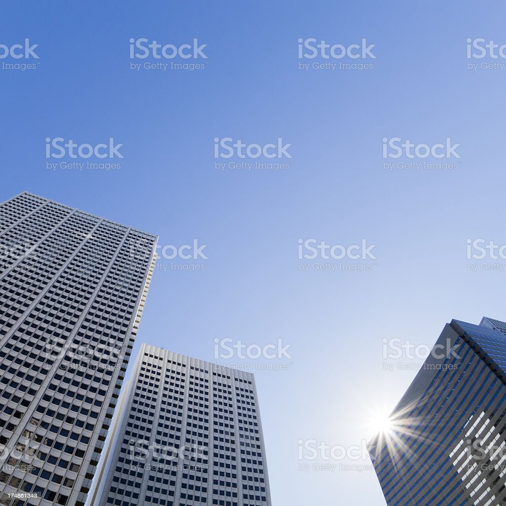 Office Buildings with Sunlight royalty-free stock photo
