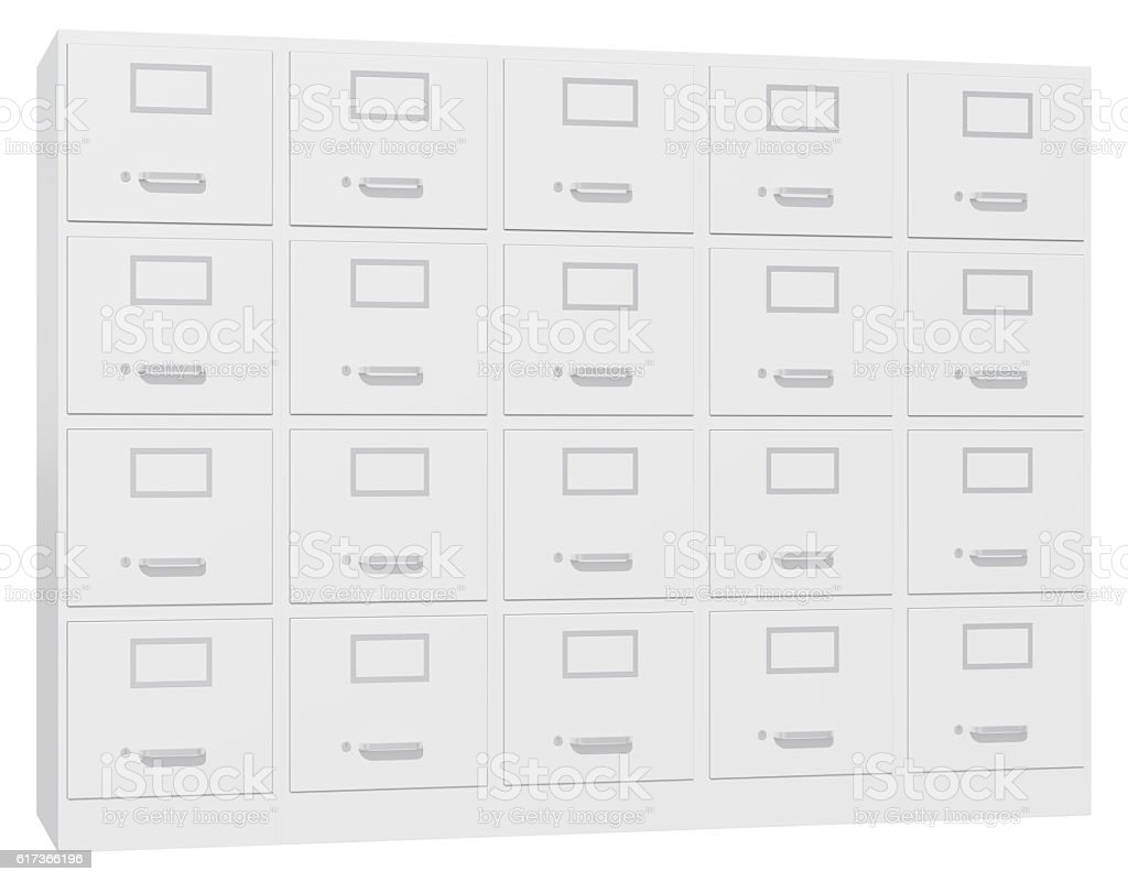 Office cabinet isolated over white background stock photo