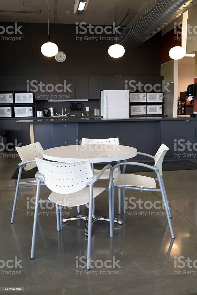 Office cafeteria and kitchen. stock photo