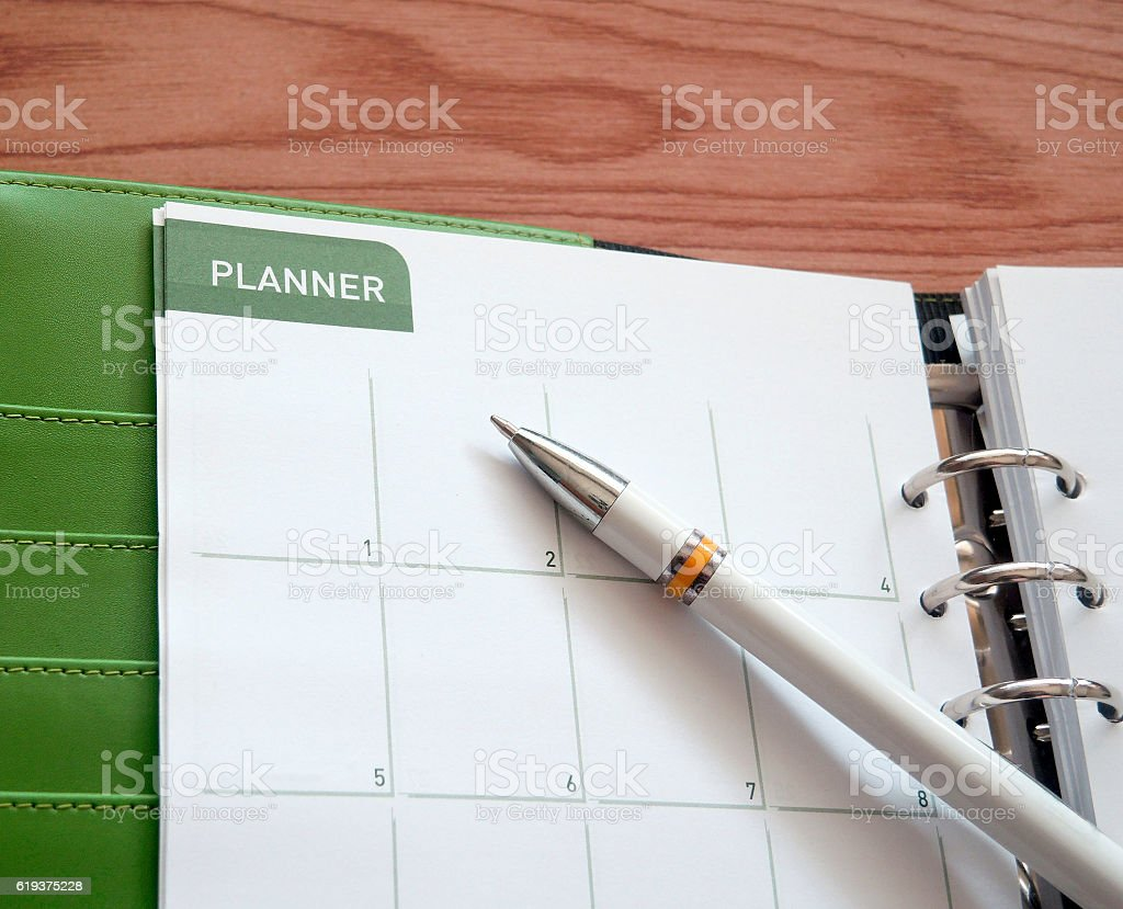 Office calendar planner stock photo