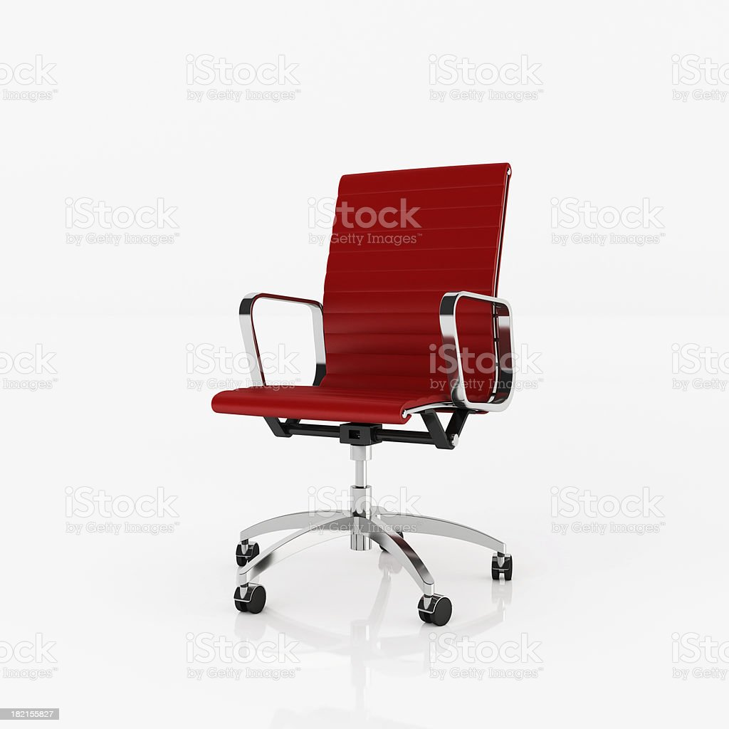 Office Chair - Clipping path royalty-free stock photo