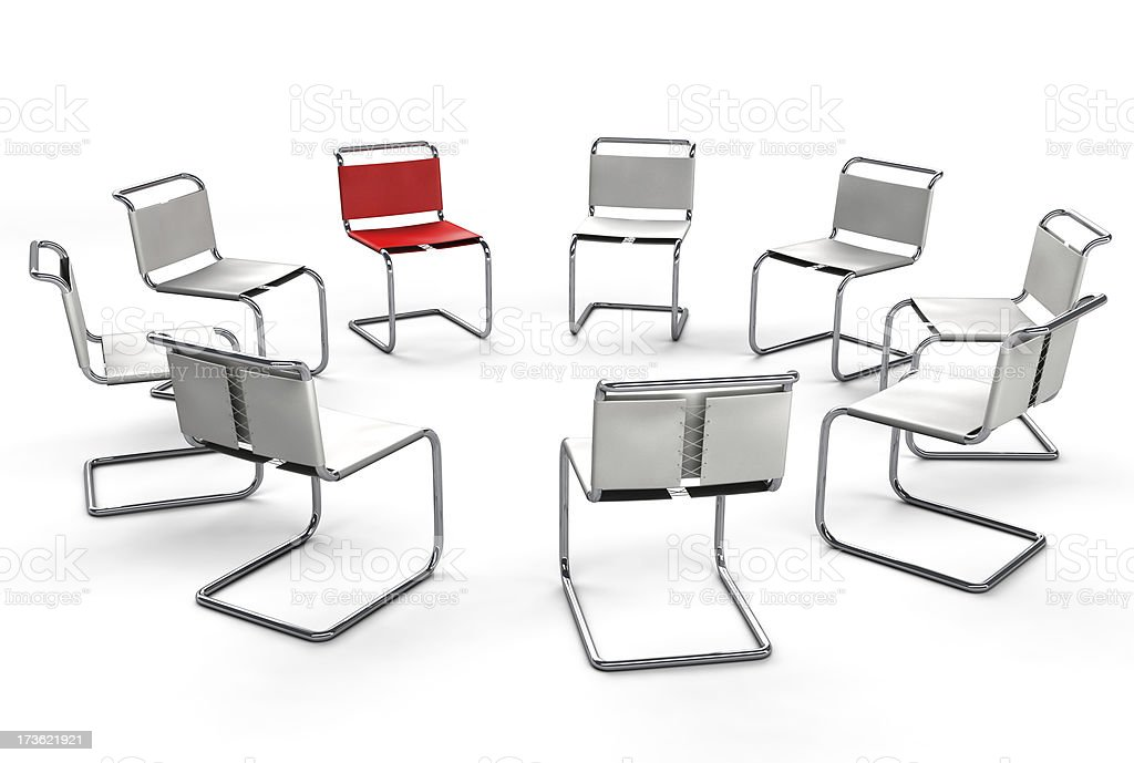 Office Chair Concept - Circle Group Meeting royalty-free stock photo